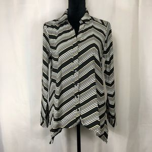 Dana Bushman asymmetrical Button up Blouse